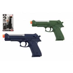 Obrázek Pistole 17cm plast na baterie se světlem se zvukem 3 barvy  na kartě
