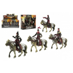 Obrázek Rytíř s koňem plast mix druhů v krabičce 18x16x4cm 8ks v boxu