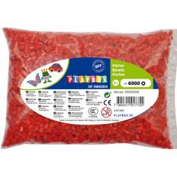 Obrázek Zažehlovací korálky - 6 000 ks - červené