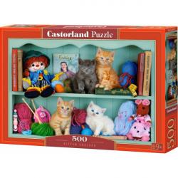Obrázek Puzzle Castorland 500 dílků - Kočičí polička