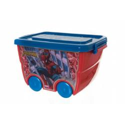 Obrázek Box úložný na kolieskach Marvel Spiderman plast 40x25x32cm