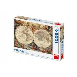 Obrázek Puzzle historická mapa 1000 dílků 66x47cm v krabici 32x23x7cm