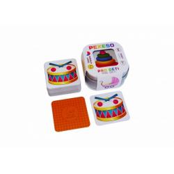 Obrázek Pexeso Pro děti 64 karet v plechové krabičce 6x6x4cm Hmaťák