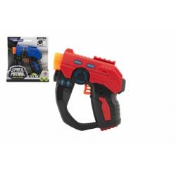 Obrázek Pistole 12cm plast na baterie se světlem se zvukem 2 barvy na kartě