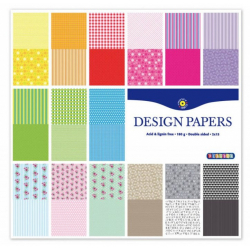 Obrázek Barevné papíry s motivem 305x305 mm, 30 listů, 180 g, oboustranný