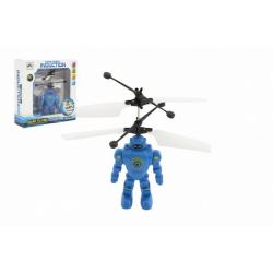 Obrázek Robot/Vrtulník 15cm reagující na pohyb ruky s USB nabíjecím kabelem se světlem v krabičce 17x18x6cm