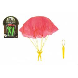 Obrázek Parašutista figurka s padákem létající 9cm 2 barvy na kartě