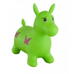Obrázek Hopsadlo kůň skákací gumový zelený 49x43x28cm