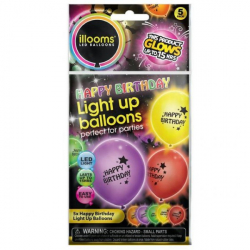 Obrázek Nafukovací balónky svítící Happy Birthday 4 ks