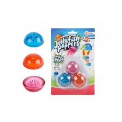 Obrázek Medůza vyskakovací 3 ks gumová 4,5cm na kartě