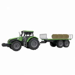Obrázek Traktor s vlekem 1:32