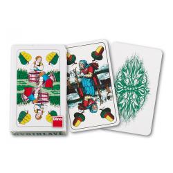 Obrázek karty mariášové, dvouhlavé