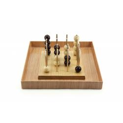 Obrázek Piškvorky 3D podstavec + kuličky dřevo společenská hra