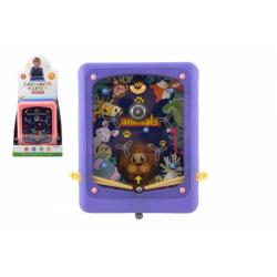 Obrázek Hra kuličková cvrnkací hlavolam plast 21x24cm 3 barvy 10ks v boxu