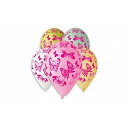 Obrázek Balónik / Balóniky nafukovacie motýľ 12 '' priemer 30cm 5ks v sáčku
