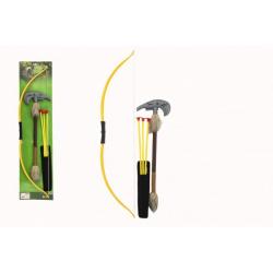 Obrázek Luk indiánský 70cm + 3 šípy s přísavkami + tomahawk plast v sáčku