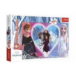 Obrázek Puzzle Ledové království II/Frozen II Šťastné chvíle 41x27,5cm 160 dílků v krabici 29x19x4cm