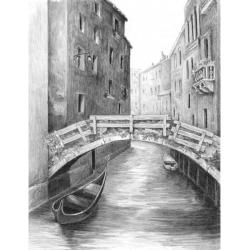 Obrázek Malování SKICOVACÍMI TUŽKAMI-Benátský most