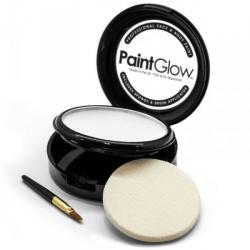 Obrázek Barva na obličej PAINT GLOW bílá v pudřence se zrcátkem, houbičkou a štětcem