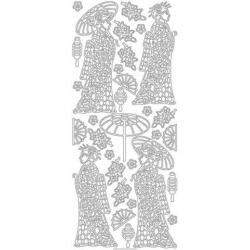 Obrázek Obrysové samolepky - geiši - zlaté