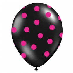 Obrázek balónik nafukovacie 30 cm s potlačou čierny 1 ks