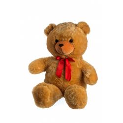 Obrázek Medvěd plyš 100cm s mašlí světle hnědý hladký 0+