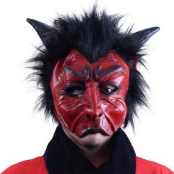 Obrázek maska čert s vlasy