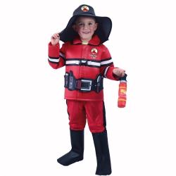 Obrázek Dětský kostým hasič s českým potiskem (M)