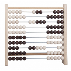 Obrázek Počítadlo 100 guľôčok drevo / kov 24x23cm