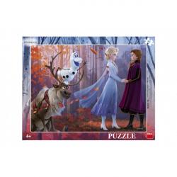 Obrázek Puzzle doskové Ľadové kráľovstvo II / Frozen II 37x29cm 40 dielikov