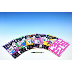 Obrázek Módní návrhářka - blok s doplňky - 4 druhy