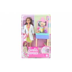 Obrázek Barbie Povolání herní set dětská doktorka bruneta GTN52