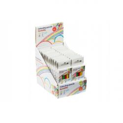 Obrázek Pastelky krátké 6ks v krabičce 4,5x11cm 24ks v boxu