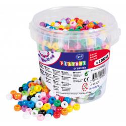 Obrázek Korálky plastové v kbelíčku mix barev, 1200 ks