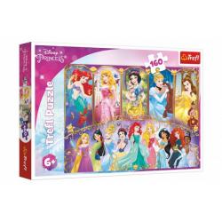 Obrázek Puzzle Portréty princezen Disney 41x27,5cm 160 dílků v krabici 29x19x4cm