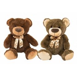 Obrázek Medvěd s mašlí plyš 50cm 2 barvy 0+