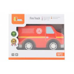 Obrázek Dřevěné hasičské auto