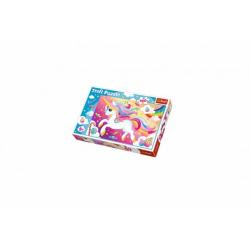 Obrázek Puzzle Krásný jednorožec 100 dílků 41x27,5cm v krabici 29x20x4cm