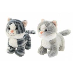 Obrázek Kočka/Kočička stojící plyš 2 barvy 23cm v sáčku 0+