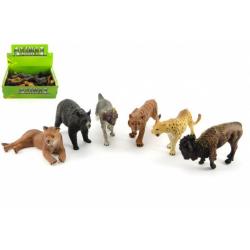 Obrázek Zvířátka safari ZOO plast 10cm mix druhů 24ks v boxu