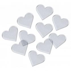 Obrázek Destička pro zažehlovaní - srdce 8 x 8 cm