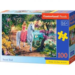 Obrázek Puzzle Castorland 100 dílků premium - Tajná stezka (princezna s jednorožcem)