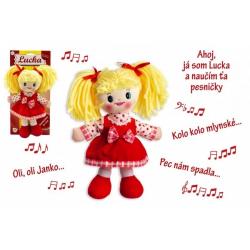 Obrázek Bábika Lucka handrová plyš 30 cm slovenský spievajúci na karte 0+