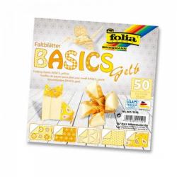 Obrázek Papiere na skladanie Origami, 50 listov, 10x10cm, 80g - žlté