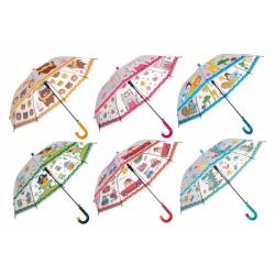 Obrázek Deštník 66cm vystřelovací 6 barev v sáčku
