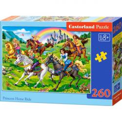 Obrázek Puzzle Castorland 260 dílků - Princezny na vyjížďce