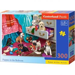 Obrázek Puzzle 300 dílků - Štěňata v ložnici