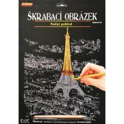 Obrázek Škrabací obrázek - noční výhled - Eiffelka