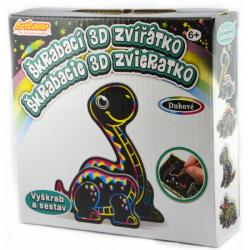 Obrázek 4 x Škrabací 3D Dino