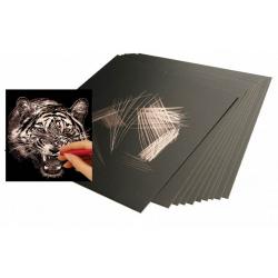 Obrázek Škrabacie fólia medená 30,5 x 22,9 cm 10 ks